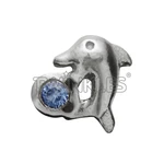 Dolphin w/ Sapphire White Gold
